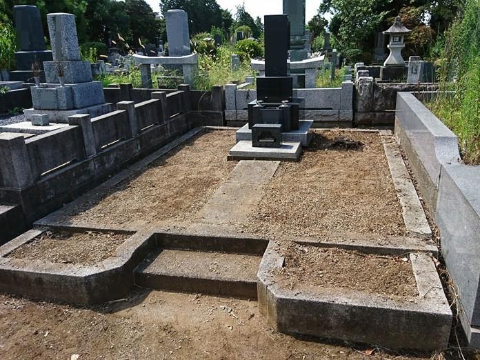 京都府でお墓のクリーニングと除草作業 [after]