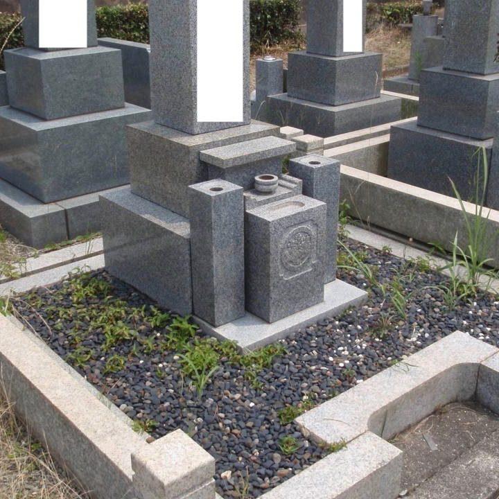 愛知県でお墓クリーニング、雑草処理 [before]